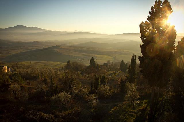 val d'orcia italie toscane