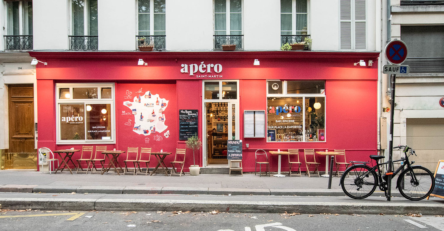 Apéro Saint-Martin bar paris facade