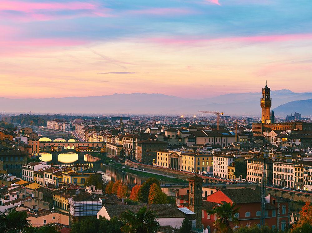 materrazza aperitivo couché de soleil Florence