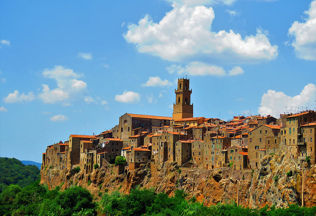 Pitigliano toscane italie paysage