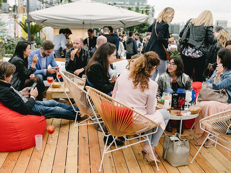 Le Jardin Suspendu rooftop aperitivo