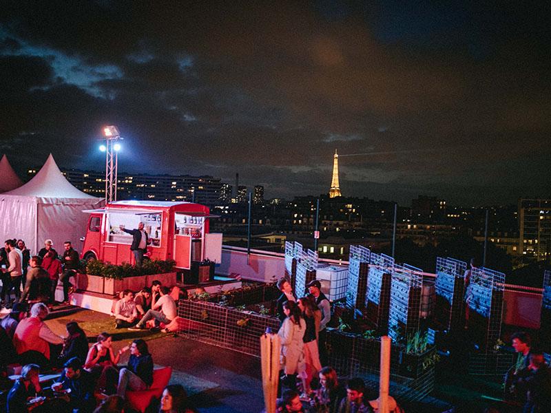 Le Jardin Suspendu rooftop nuit